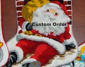RESERVED-Christmas Stocking, Custom Order