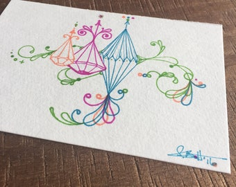 Postcard- Permanent Marker Drawing