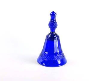 Vintage Cobalt Blue Glass Bell