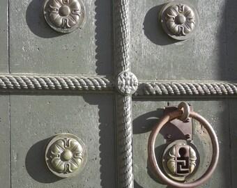 Original Photograph (Matted): Temple Door