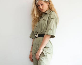 90s Jumpsuit MILITARY
