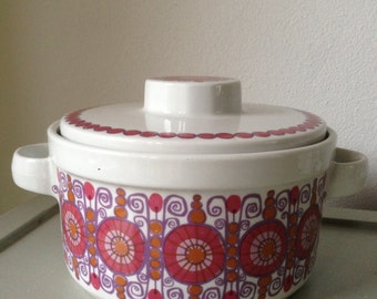Turi Design Barcarole Figgjo Fajanse Norway Covered Casserole