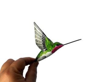 Hummingbird art  Paper mache bird sculpture Ornament birds