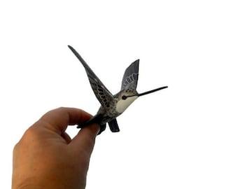 hummingbird art aper machè bird ornament  decoration birds