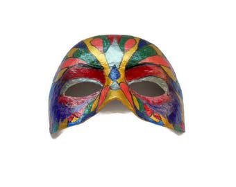 Paper mache Mask handmade papier machè Carnival mask