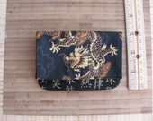 Asian dragon small handmade billfold or wallet lightweight giftcard holder