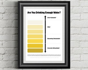 Urine Colour Chart, Pee Color Chart, Water Intake Chart, Pee Meaning, Dark Urine, Urine Color,Bright Yellow Urine,Pee Chart,Instant Download