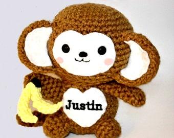 Amigurumi Monkey - Handmade Crochet Baby Animal Toy