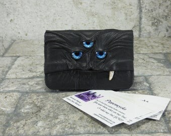 Business Card Case Holder Monster Black Leather One Of A Kind Business Gift Harry Potter Labyrinth