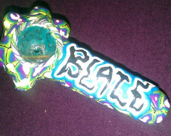 Blaze Flame Logo Covered GLASS tobacco Pipe FREE SHIPPING blaze boondox formerly of psychopathic Gift MnE Juggalo fan toy glows