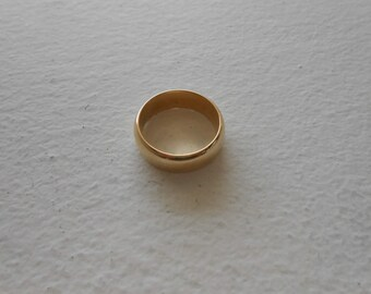 14K Solid Yellow Gold Woman Wedding Band Size 7.5