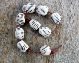 Organic Beads , Porcelain Beads,Beading Supplies, Jewelry Supplies