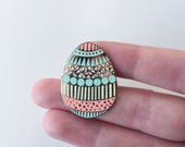 Enamel pin / Easter Egg enamel pin / spring enamel pin / pattern play enamel pin / lapel pin / pastel enamel pin