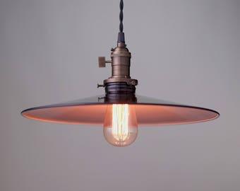 Hanging Lights - Lighting Pendant -  Metal Industrial Pendant - Black Shade