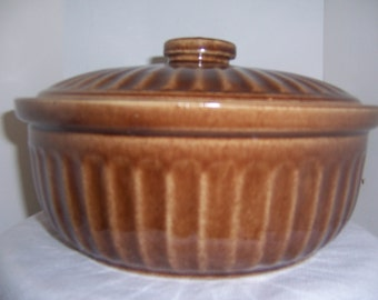 POTTERY COVERED DISH