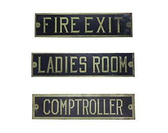 Vintage Brass Plate Signs