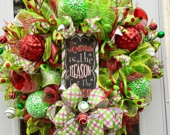 Huge Christmas Sale Holiday wreath. Christmas wreath, holiday Wreath ,religious wreath