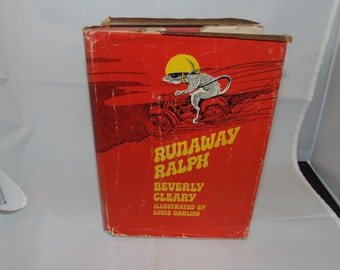 Vintage 1970 Runaway Ralph BEVERLY CLEARY Hardcover HCDJ Ex-library