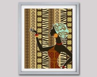 African American Wall Decor african art african american wall art african woman african