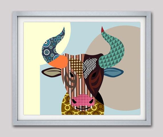Taurus Zodiac Art, Taurus Star Sign Poster, Taurus Gift, Taurus Print Wall Art, Taurus Art Print, Zodiac Gift, Horoscope Gift, Bull Head