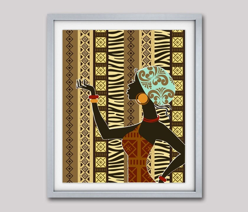 african artwork african woman african painting african. Black Bedroom Furniture Sets. Home Design Ideas