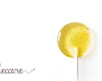 12 Lemon Basil Lollipops //  Think Spring Lollipops // Unique Wedding Favor // Summer Wedding // Foodie Gift // Fall Wedding Favor