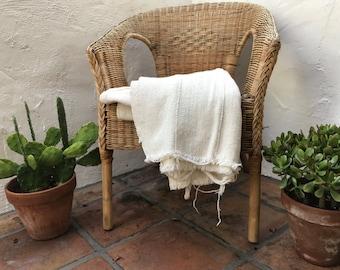 Authentic Plain African Mudcloth Fabric, Ecru Mud cloth fabric, natural mudcloth throw mudcloth textile 5