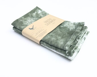 "Sage Green Cloth Napkin Set of 4 Dinner Light Green Cotton Napkins Cloth Dinner Napkins 16"" Napkins Lunch box napkins"