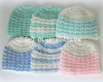 Charity Newborn Hat Crochet Pattern, Easy Crochet Pattern, Newborn Baby Hat Pattern