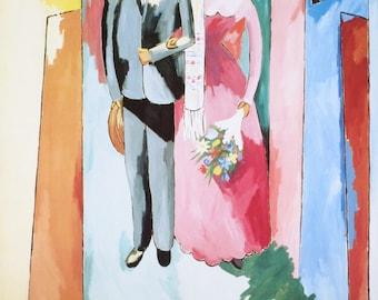 Alberto Magnelli-Bride and Groom-1988 Poster