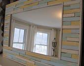 Custom Post Lynda: Reclaimed Painted Wood Mirror