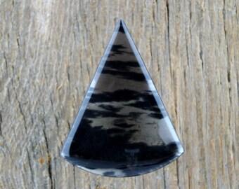 Dual Flow Obsidian Cabochon