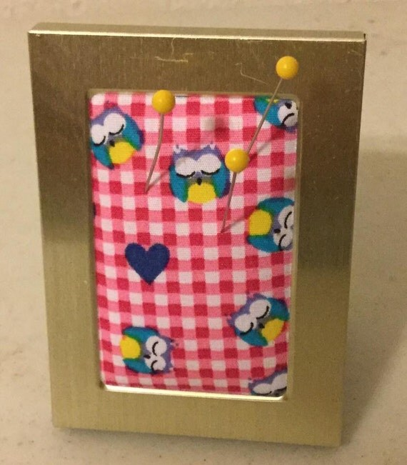 Owl Pucture Frame Pincushion