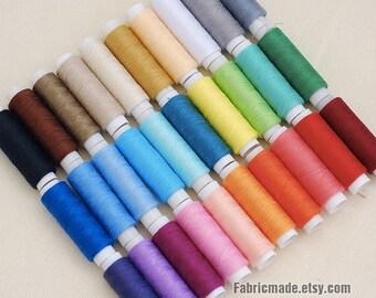 30 Rolls Sewing Thread, Polyester Thread, Sewing Box - Thread
