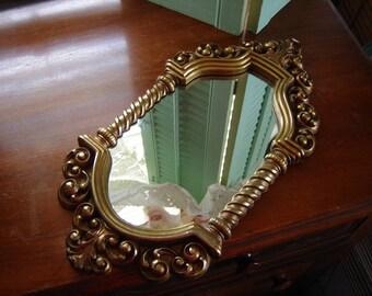 Vintage Syroco moroccan style gold Mirror Homco mirror wall mirror wall hanging retro chic mirror ornate frame
