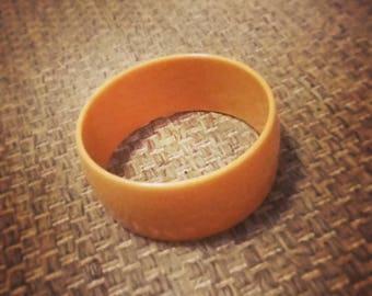 Vintage yellow bangle bracelet retro pinup