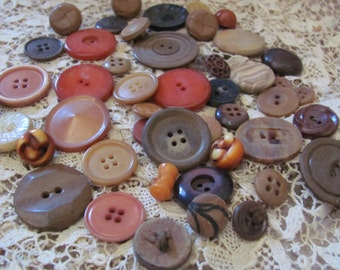 Lot of 46 Assorted Antique Vintage Bakelite Vegetable Plastic Buttons