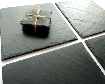 Slate placemats, coasters, handmade UK, contemporary luxury, natural chalkboard