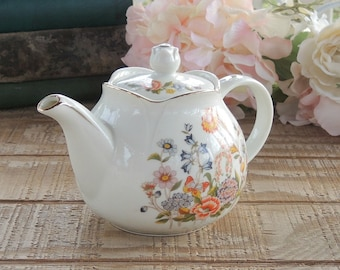 Vintage  Small Teapot, Robinson, Tea Party Decor, Cottage Style Decor, Shabby Chic, Get Well Soon Gift Inspired