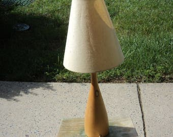 Wooden lamp from the original years of Ikea in USA