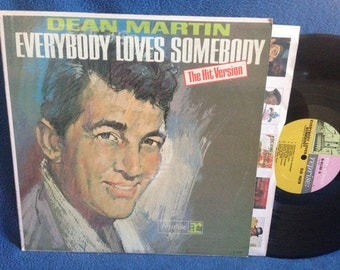 "Vintage, Dean Martin - ""Everybody Loves Somebody"", In Shrink, Vinyl LP, Record Album, Rat Pack, Classics, Original 1964 Press, baby-O"