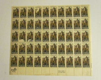 Sheet of 50  6 cent U.S. Postage stamps