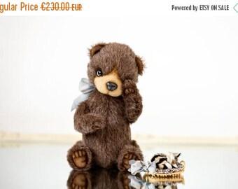 Sale 50% Teddy bear Titto + FREE shipping - Collectible bear - Mohair Teddy bear - OOAK gift - Baby shower gift - Artist Teddy bear