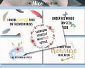 NICE Pack of 5 Inspiring Watercolour Postcards / Prints