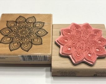Large doily design rubber stamp, 55 mm (BB4/3)