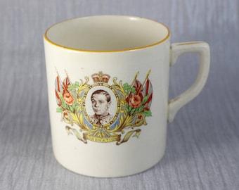 1937 King Edward VIII Coronation Commemorative Ceramic Mug