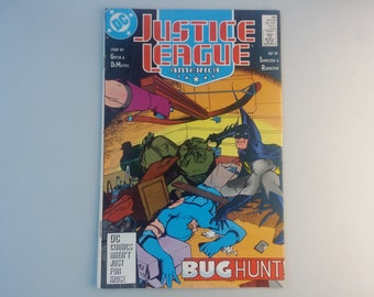 Justice League America 26, 1989, Vintage DC comics, Batman , Dc superheroes, Green Lantern, Blue Beetle, geekery