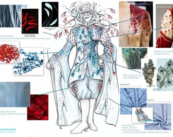 MADE TO ORDER Carnival Venice Man Embroidered Costume Ice Phoenix, Larp costume, Masquerade ball dress, embroidered frock