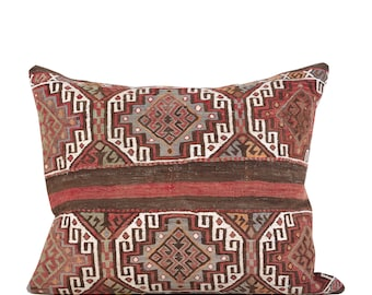 "24"" x 28"" Pillow Cover Kilim Pillow Vintage Kilim Pillow Hand Embroidered Pillow FAST SHIPMENT with ups or fedex - 10920"