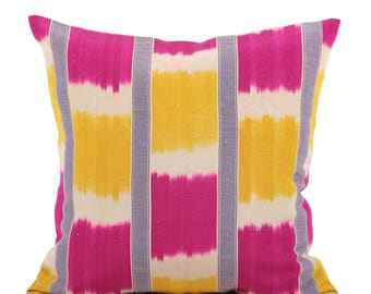 19 x 19 Pillow Cover Ikat Pillow Cover Old Ikat Pillow Cover Throw Pillow Decorative Pillow FAST SHIPMENT with ups or fedex - 09102